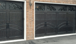 Fancy black garage doors